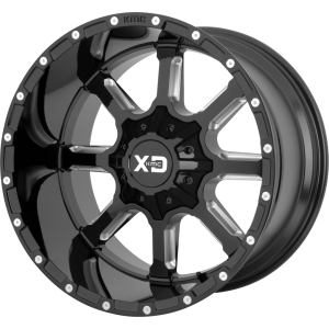 24x14 XD Series XD838 Mammoth Gloss Black Milled