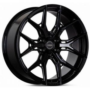 n4sm-vossen wheels hf6-4 wheel gloss black tinted