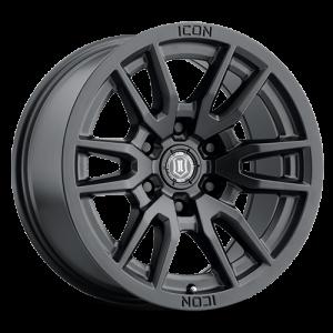 17x8.5 ICON Alloy Vector 6 Satin Black