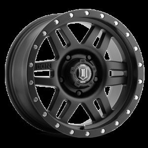 17x8.5 ICON Alloy Six Speed Satin Black