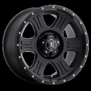 17x8.5 ICON Alloy Shield Satin Black