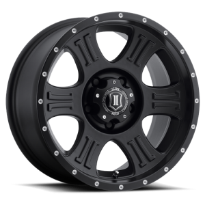 20x9 ICON Alloy Shield Satin Black