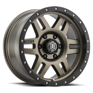 17x8.5 ICON Alloy Six Speed Bronze w/ Black Ring