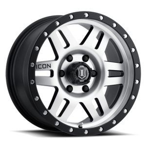 17x8.5 ICON Alloy Six Speed Machined Face w/ Black Ring