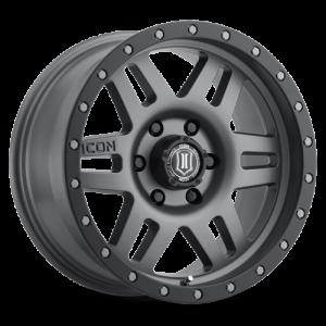17x8.5 ICON Alloy Six Speed Titanium
