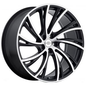 22x10 Redbourne Noble Matte Black w/ Machined Face (True Directional)