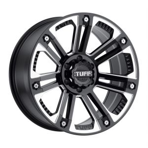 20x9 Tuff T22 GLOSS BLACK W/ MILLED SPOKES
