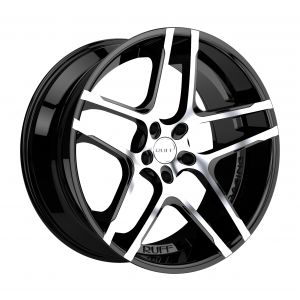 22x9 Ruff R954 GLOSS BLACK W/ MACHINED FACE