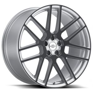 22x9 Redbourne Windsor Silver w/ Gloss Black Face