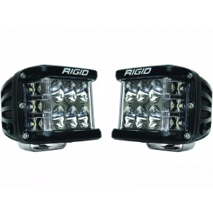 Rigid D-SS Pro Black Led Lights Driving Beam Pair