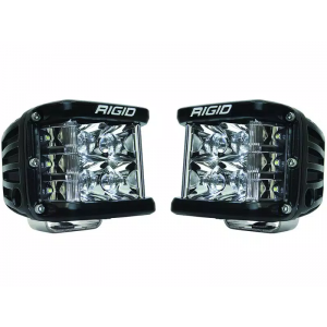 Rigid D-SS Pro Black Led Lights Spot Beam Pair