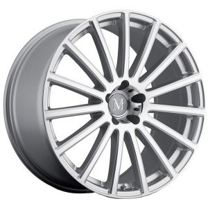 18x9.5 Mandrus Rotec Silver w/ Mirror Cut Face (Rotary Forged)