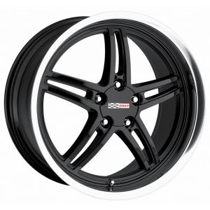 18x10.5 Cray Scorpion Gloss Black w/ Mirror Cut