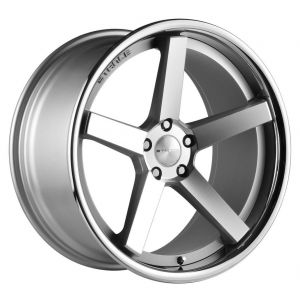19x8.5 Stance SC-5 Matte Silver Machined w/ Chrome Stainless Steel Lip