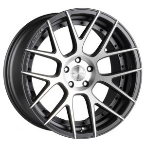 20x10 Stance SC-8 Slate Grey w/ Machined Face