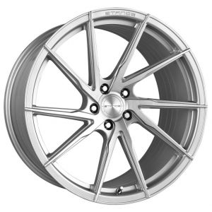 - Staggered full Set -(2) 19x9.5 Stance SF01 Brushed Silver (Rotary Forged) (True Directional)(2) 20x10.5 Stance SF01 Brushed Silver (Rotary Forged) (True Directional)