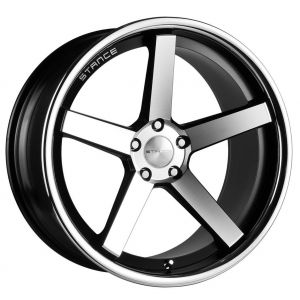 19x8.5 Stance SC-5 Matte Black Machined w/ Chrome Stainless Steel Lip
