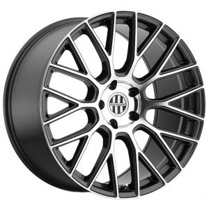 22x10.5 Victor Equipment Stabil Gunmetal w/ Mirror Cut Face (Rotary Forged)
