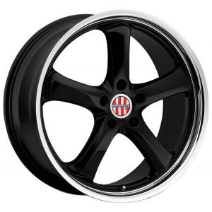 18x8 Victor Equipment Turismo Gloss Black w/ Mirror Cut Lip