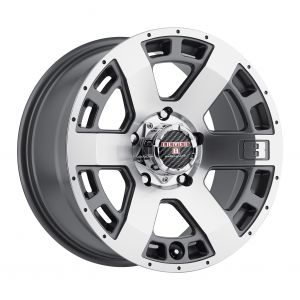 16x8.5 Level 8 Scorpion ANTHRACITE W/MACHINED CUT FACE