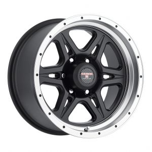 16x8.5 Level 8 Strike 6 MATTE BLACK