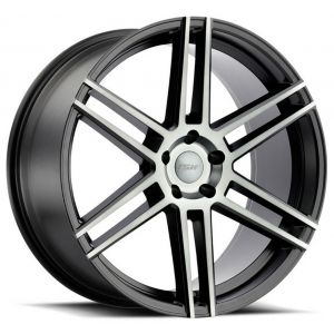 20x10 TSW Autograph Semi-Gloss Black w/ Mirror Cut Face
