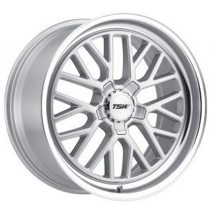 18x9.5 TSW Hockenheim S Silver w/ Mirror Cut Lip
