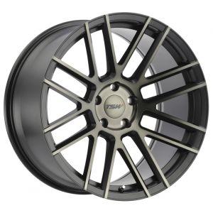 18x9.5 TSW Mosport Mattte Black w/ Machin Face & Dark Tint