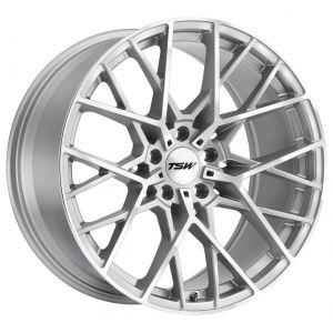 - Staggered full Set -(2) 18x8.5 TSW Sebring Silver w/ Mirror Cut Face(2) 18x9.5 TSW Sebring Silver w/ Mirror Cut Face
