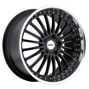 18x8 TSW Silverstone Gloss Black w/Mirror Lip