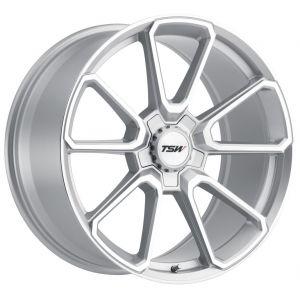 - Staggered full Set -(2) 19x8.5 TSW Sonoma Silver w/ Mirror Cut Face(2) 19x9.5 TSW Sonoma Silver w/ Mirror Cut Face