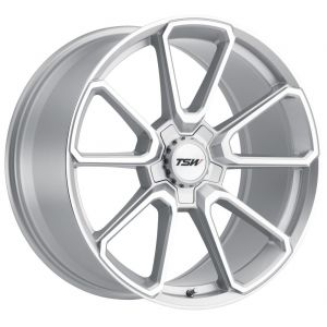 19x9.5 TSW Sonoma Silver w/ Mirror Cut Face