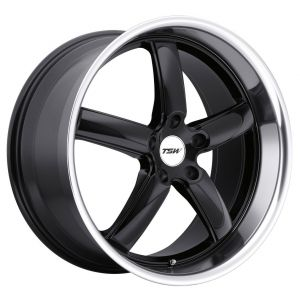 18x8 TSW Stowe Gloss Black w/ Mirror Cut Lip