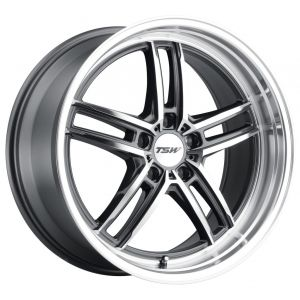 17x8 TSW Suzuka Gloss Gunmetal w/ Mirror Cut Face
