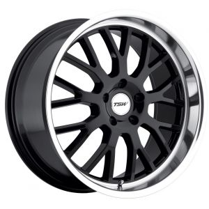 18x8 TSW Tremblant Gloss Black w/ Mirror Lip
