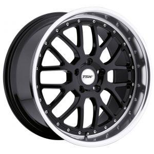 20x8.5 TSW Valencia Gloss Black w/ Mirror Lip