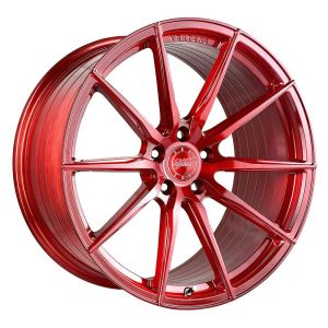 - Staggered full Set -(2) 20x9 Vertini RF1.1 Brushed Candy Red (Rotary Forged)(2) 20x10 Vertini RF1.1 Brushed Candy Red (Rotary Forged)