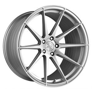 - Staggered full Set -(2) 19x9.5 Vertini RF1.3 Brush Silver Machine (Rotary Forged)(2) 20x10.5 Vertini RF1.3 Brush Silver Machine (Rotary Forged)
