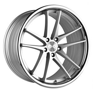 20x10.5 Vertini RF1.5 Silver Machined w/ Chrome Lip (Rotary Forged)