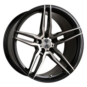 20x11 Vertini RF1.6 Gloss Black Tinted Face (Rotary Forged)