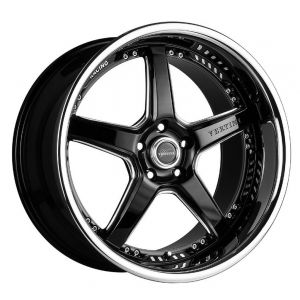 20x10 Vertini Drift Gloss Black w/ Chrome Stainless Steel Lip