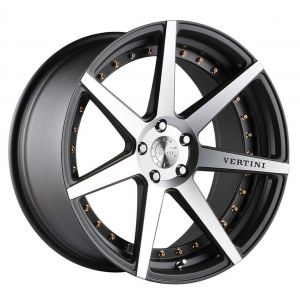 19x8.5 Vertini Dynasty Slate Grey/ Machined Face