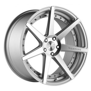 22x9 Vertini Dynasty Matte Silver/ Machined Face
