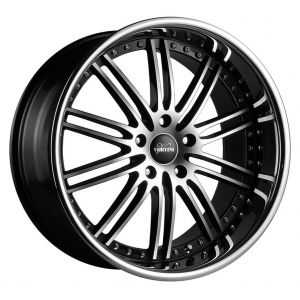 19x9.5 Vertini Hennessey Black Machined Face (Chrome Stainless Steel Lip)