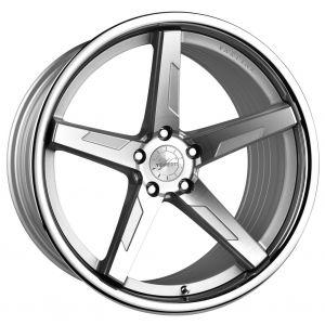 20x11 Vertini RF1.7 Silver Machined w/ Chrome Lip (Rotary Forged)