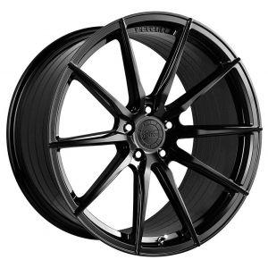 - Staggered full Set -(2) 20x9 Vertini RF1.1 Gloss Black (Rotary Forged)(2) 20x10.5 Vertini RF1.1 Gloss Black (Rotary Forged)