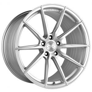 20x10.5 Vertini RF1.1 Brushed Silver Machine (Rotary Forged)