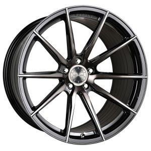20x10.5 Vertini RF1.1 Gloss Black Brush Tint (Rotary Forged)