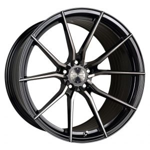18x8 Vertini RF1.2 Gloss Black Tinted Face (Rotary Forged)