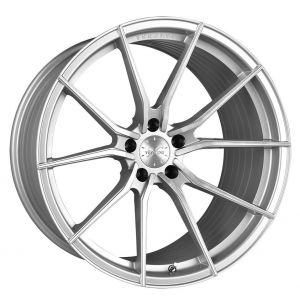 - Staggered full Set -(2) 20x10.5 Vertini RF1.2 Brushed Silver Machine (Rotary Forged)(2) 20x12 Vertini RF1.2 Brushed Silver Machine (Rotary Forged)